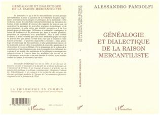 Couverture Généalogie et dialectique de la raison mercantiliste
