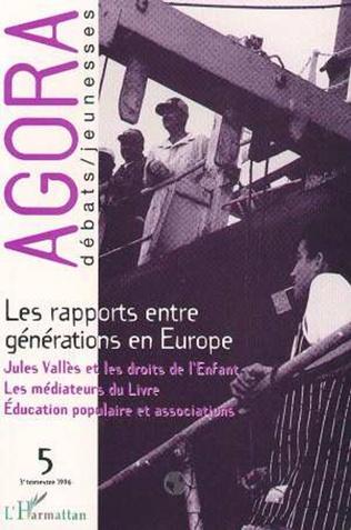 Couverture Les rapports entre générations en Europe