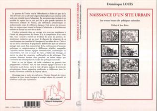 Couverture Naissance d'un site urbain