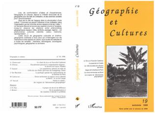 Couverture Géographie et cultures n°19