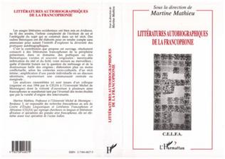 Couverture Littératures autobiographiques de la francophonie