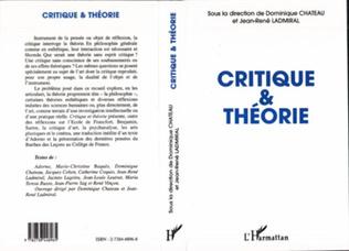 Couverture CRITIQUE ET THEORIE
