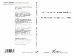 Couverture LE DESTIN DU TOXICOMANE