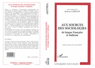 Couverture Aux sources des sociologies de langue française et italienne