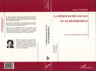 Couverture La démocratie locale et le référendum