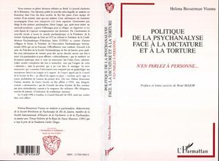 Couverture Politique de la psychanalyse face à la dictature et à la torture