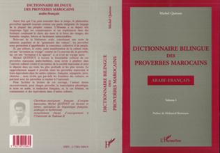 Couverture Dictionnaire bilingue des proverbes marocains arabe-français