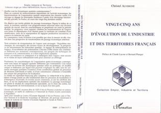 Couverture Vingt-cinq ans d'évolution de l'industrie et des territoires français