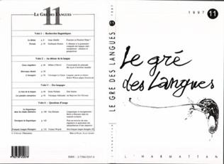 Couverture Le gré des langues n°11