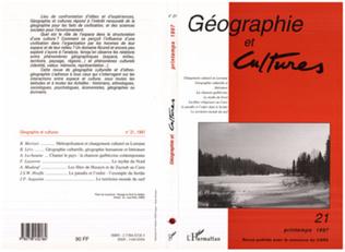 Couverture Géographie et cultures n°21