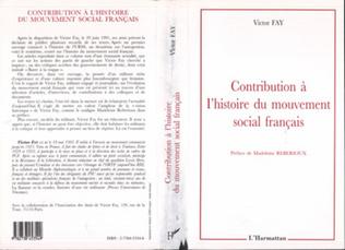Couverture Contribution à l'histoire du mouvement social français