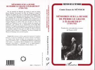 Couverture Mémoire sur la Russie de Pierre Le Grand à Elisabeth Ière (1720-1742)