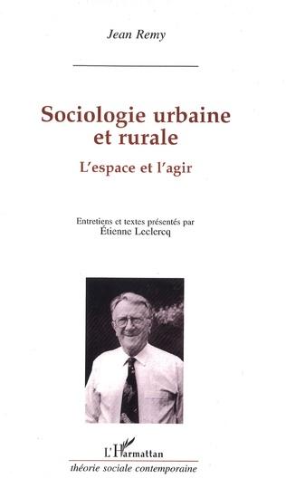 Couverture Sociologie urbaine et rurale