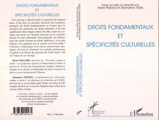 Couverture Droits fondamentaux et spécificités culturelles