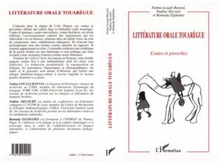 Couverture Littératures orale touarègue