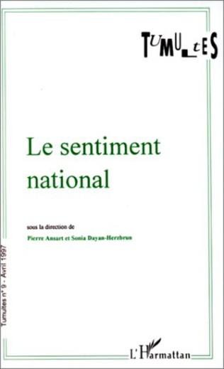 Couverture Le sentiment national