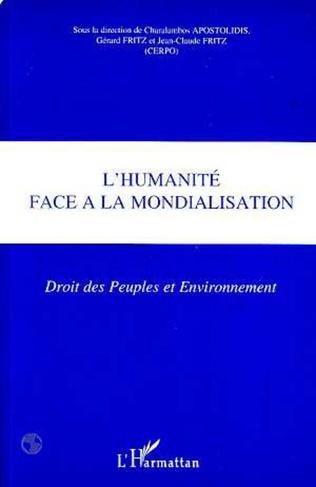 Couverture L'HUMANITÉ FACE A LA MONDIALISATION
