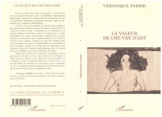 Couverture LA VALEUR DE L'OEUVRE D'ART