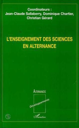 Couverture L'enseignementdes sciences en alternance
