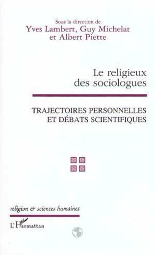 Couverture LE RELIGIEUX DES SOCIOLOGUES