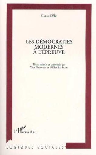 Couverture Les démocraties modernes à l'épreuve