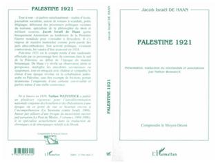 Couverture Palestine 1921