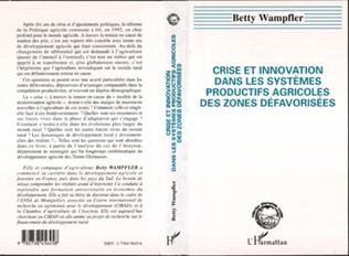 Couverture Crise et innovation dans les systèmes productifs agricoles des zones défavorisées