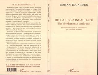 Couverture RESPONSABILITE (DE LA)