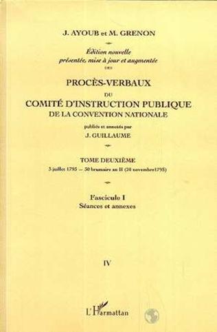 Couverture Proces-Verbaux du Comite d'instruction Publique de la Convention Nationale