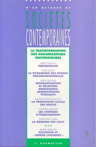 Couverture La transformation des organisations universitaires