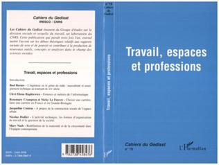 Couverture Travail, espaces et professions