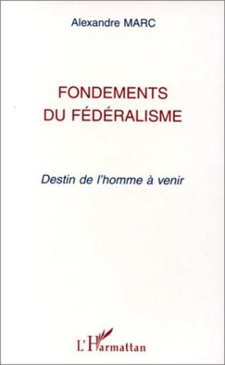 Couverture Fondements du fédéralisme
