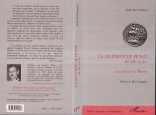 Couverture LA LEGITIMITE DU PRINCE IIIE-XIIE SIECLES