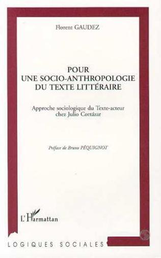 Couverture Pour une socio-anthropologie du texte littéraire