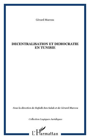 Couverture DECENTRALISATION ET DEMOCRATIE EN TUNISIE