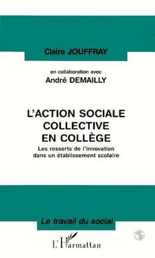 Couverture L'action sociale collective en collège