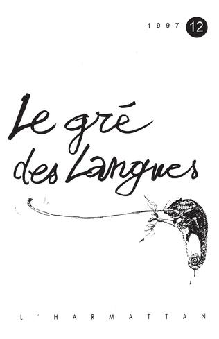 Couverture Le gré des langues n°12