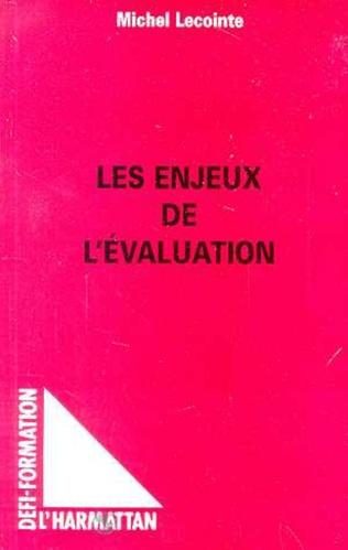 Couverture Les Enjeux de l'évaluation