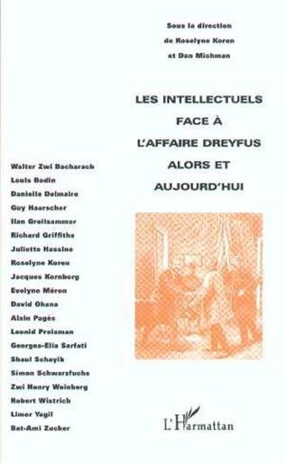 Couverture Les Intellectuels face à l'affaire Dreyfus alors et aujourd'hui