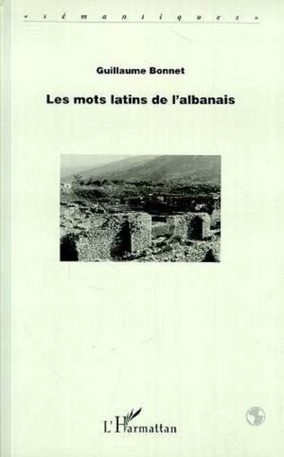 Couverture LES MOTS LATINS DE L'ALBANAIS