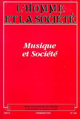 Couverture MUSIQUE ET SOCIÉTÉ