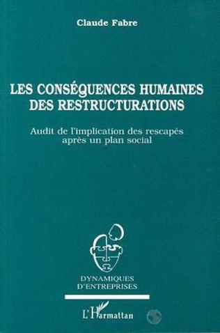Couverture Les conséquences humaines des restructurations