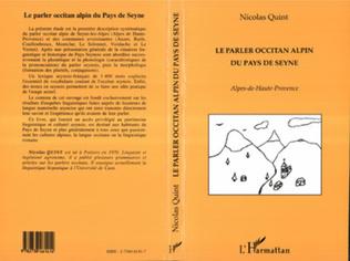Couverture Le Parler Occitan Alpin du Pays de Seyne