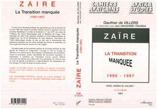 Couverture Zaire la Transition Manquée 1990-1997