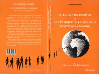 Couverture De la biophilosophie à une éthique de la biologie