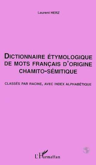 Couverture Dictionnaire Étymologique de mots Français d'origine Chamito- Sémitique