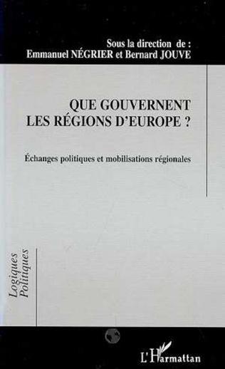 Couverture Que gouvernent les régions d'Europe ?