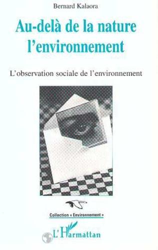Couverture Au-delà de la nature: l'environnement