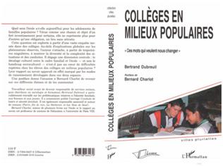 Couverture Collèges en milieux populaires