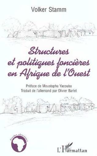 Couverture Structures et Politiques Foncières en Afrique de l'ouest